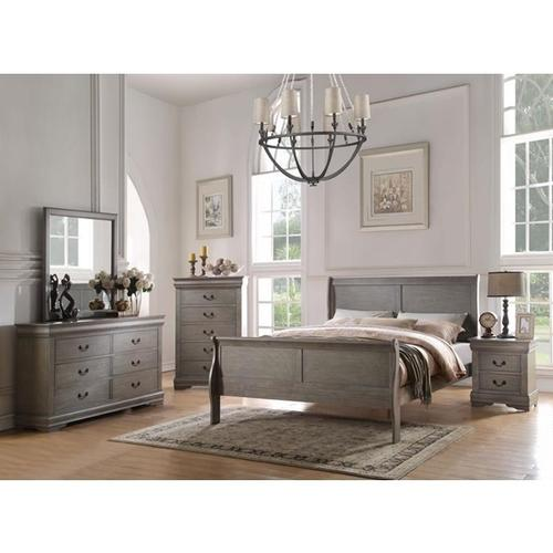 LOUIS PHILIPPE GRAY E.KING BED