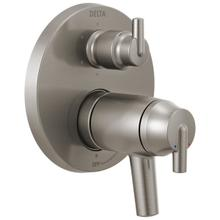 Stainless Contemporary Two Handle TempAssure ® 17T Series Valve Trim with 6-Setting Integrated Diverter