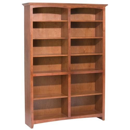 """GAC 72""""H x 48""""W McKenzie Alder Bookcase"""