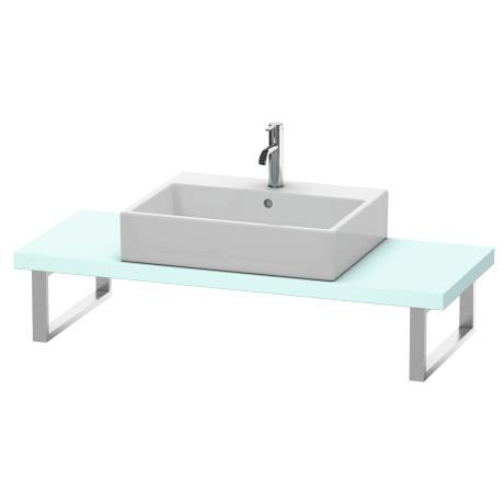 Console For Above-counter Basin And Vanity Basin Compact, Light Blue Matte (decor)