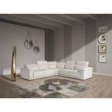View Product - Estro Salotti Palinuro - White Leather Sectional Sofa with Recliners