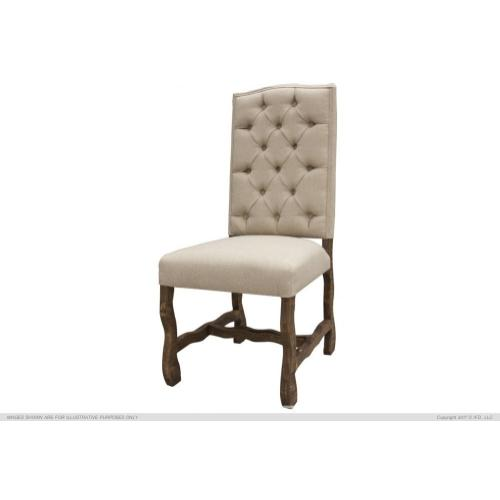 Upholstered Chair w/Tufted Back, 100% Polyester