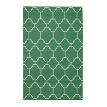 Arabesque Emerald Flat Woven Rugs