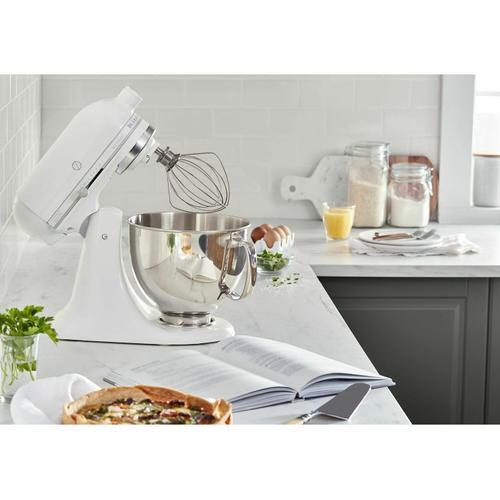KitchenAid - Artisan® Series 5 Quart Tilt-Head Stand Mixer White-on-White