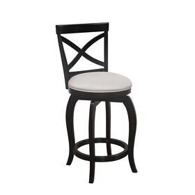 Ellendale Wood Swivel Counter Height Stool, Black