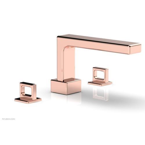 MIX Deck Tub Set - Ring Handles 290-42 - Polished Copper