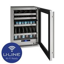 """View Product - Hbd524 24"""" Dual-zone Beverage Center With Stainless Frame Finish and Right-hand Hinge Door Swing (115 V/60 Hz Volts /60 Hz Hz)"""