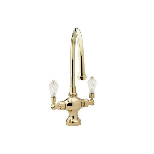 Kitchen & Bar Single Hole Bar Faucet K8108H - Satin Gold with Satin Nickel