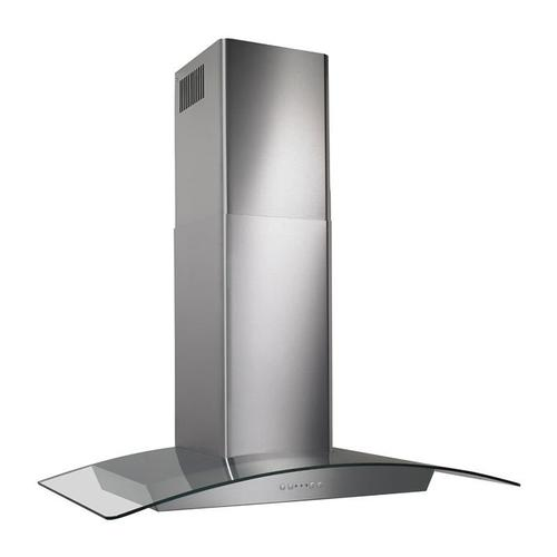 "30"", Stainless steel, Curved Glass Canopy, 500 CFM, Electronic Control"