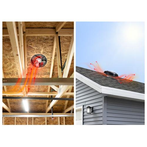 Gallery - Broan 1600 CFM Powered Attic Ventilator, Roof Mounted, Brown Dome