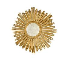 Inspired By the Iconic Emblem of the French Sun King Louis Xiv, Our Margeaux Sunburst Mirror Is At Home In Both Classic and Modern Interiors. Handcarved With A Hand Finished Gold Leaf Finish and Antique Mirror Inset.