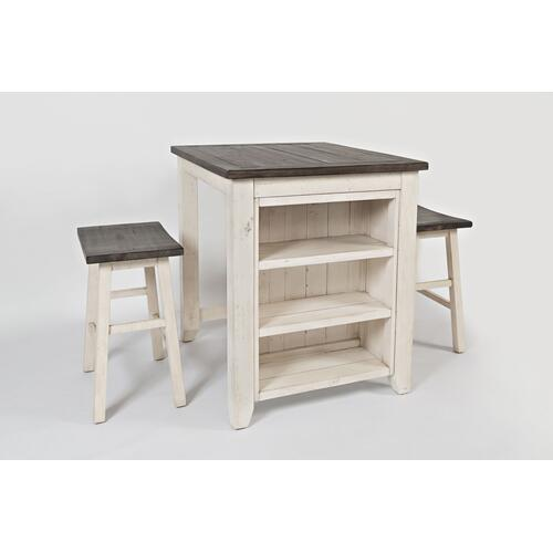 1706-36 3 PC COUNTER HEIGHT TABLE AND CHAIRS
