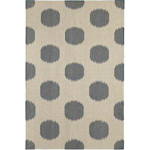 NY Dot Bokrum Blue Flat Woven Rugs