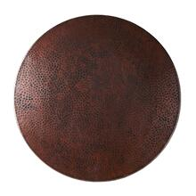 "20"" Copper Lazy Susan In Antique Copper"