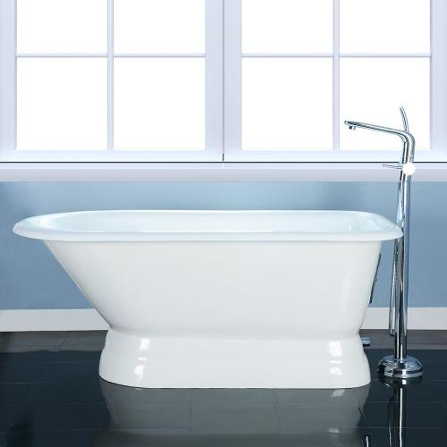 """Chadwick 60"""" Cast Iron Roll Tub on Base - No Drillings"""