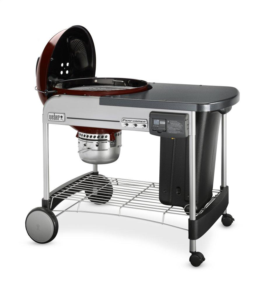 PERFORMER® DELUXE CHARCOAL GRILL - 22 INCH CRIMSON Photo #2