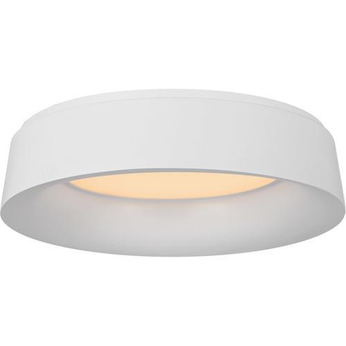 Barbara Barry Halo 1 Light 18 inch Matte White Flush Mount Ceiling Light