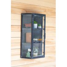 See Details - metal wall cabinet with glass door