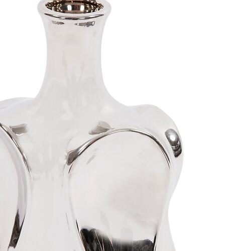 Howard Elliott - Exaggerated Wave Design Silver Bottle Vase, Small