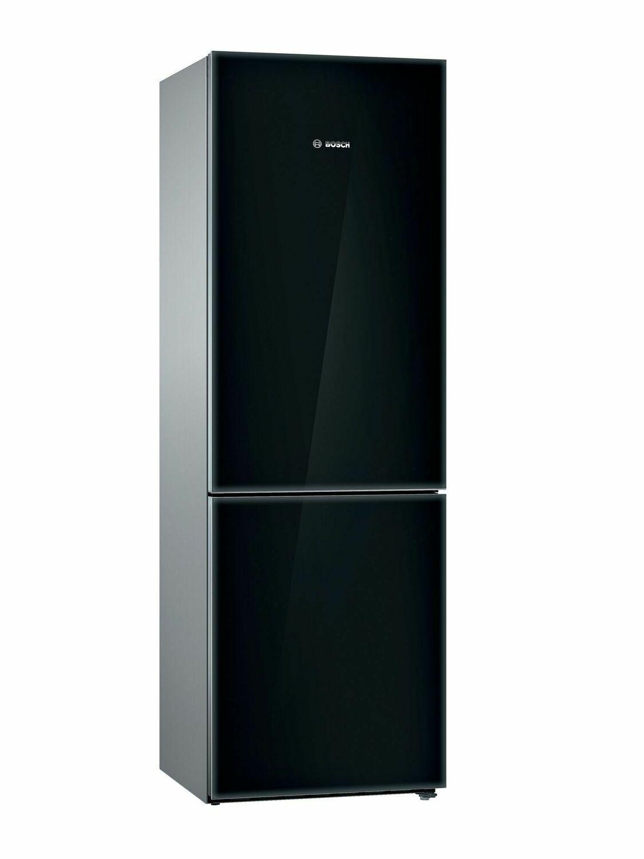 Bosch800 Series Free-Standing Fridge-Freezer With Freezer At Bottom, Glass Door 23.5'' Black B10cb81nvb
