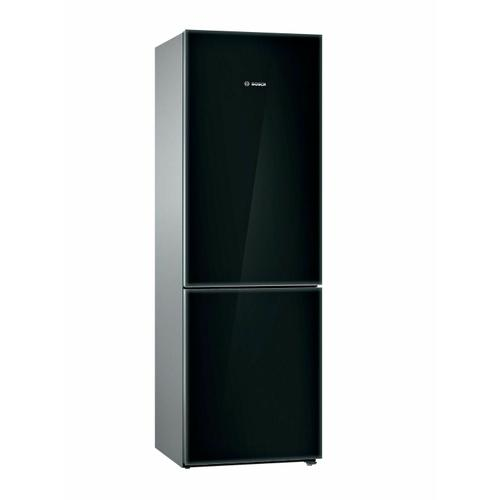 800 Series Free-standing fridge-freezer with freezer at bottom, glass door 23.5'' Black B10CB81NVB