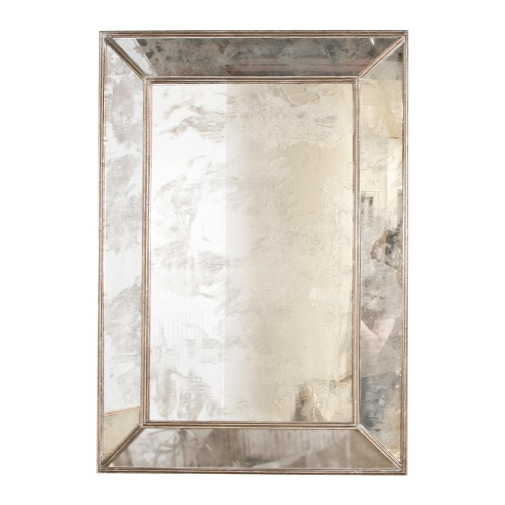 Reflect Serious Style Anywhere You Hang It. Five Antique Mirror Facets Are Expertly Finished With Champagne Silver Leaf Edging, Making the Dion Rectangular Mirror A Modern Glamour Essential.