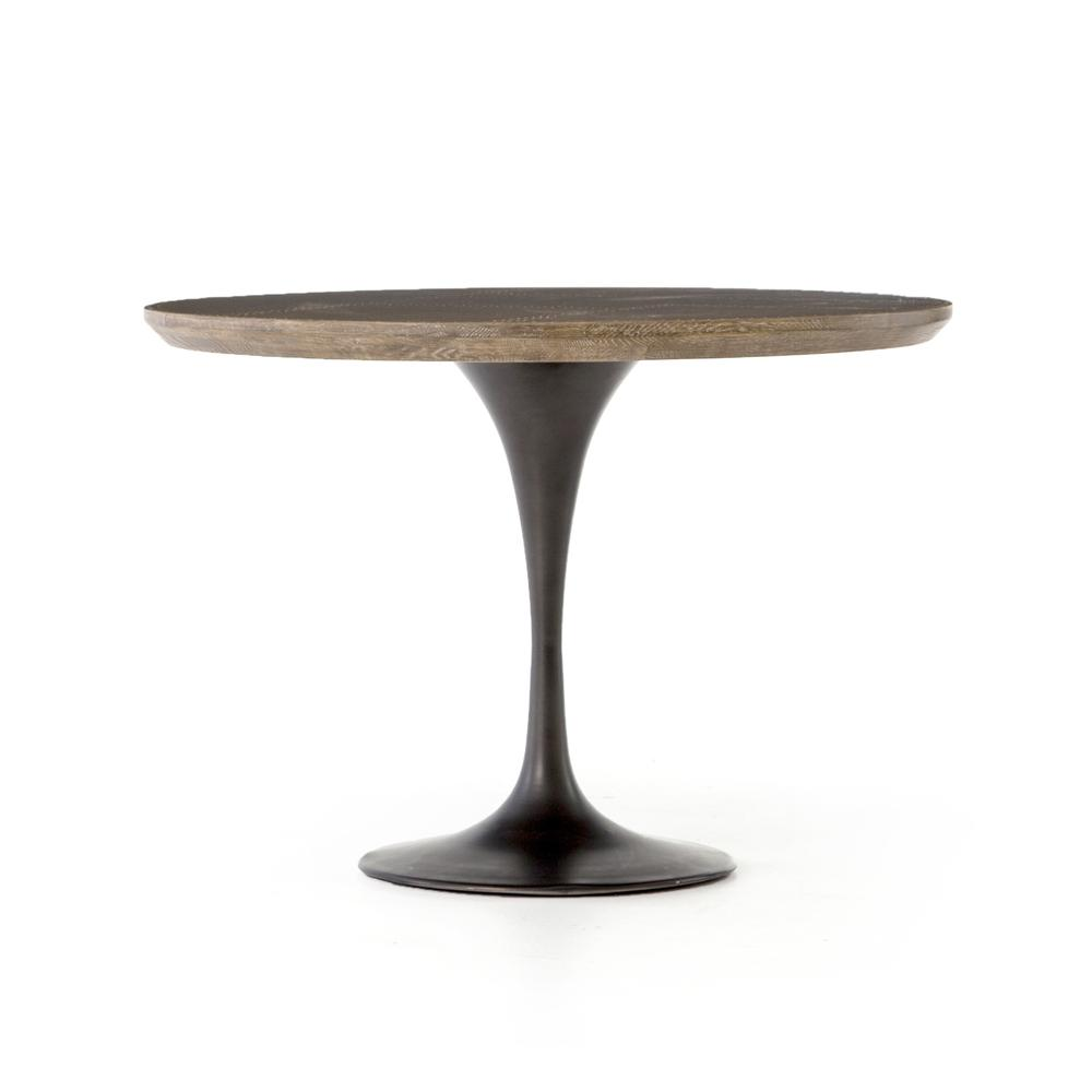"""Bright Brass Clad Finish 42"""" Size Powell Dining Table"""