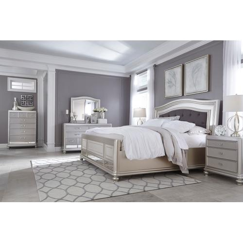 Coralayne - Silver 3 Piece Bed Set (King)