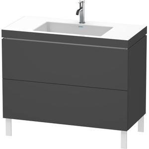Furniture Washbasin C-bonded With Vanity Floorstanding, Graphite Matte (decor)