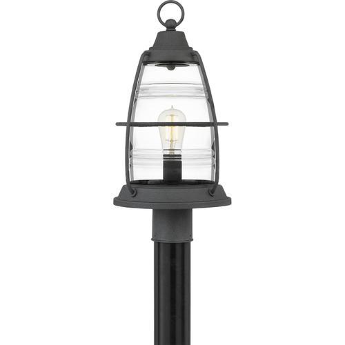 Quoizel - Admiral Outdoor Lantern in Mottled Black