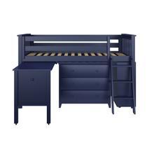See Details - Twin Loft with Dresser + Bookcase + Desk - Blue