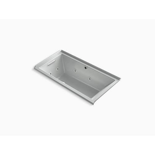 """Ice Grey 60"""" X 30"""" Heated Bubblemassage Air Bath With Whirlpool, Alcove, Left Drain"""