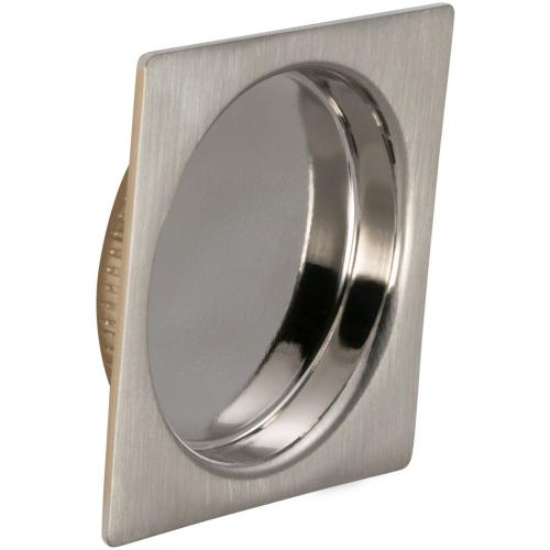 Square Cup Pull in (US15 Satin Nickel Plated, Lacquered)