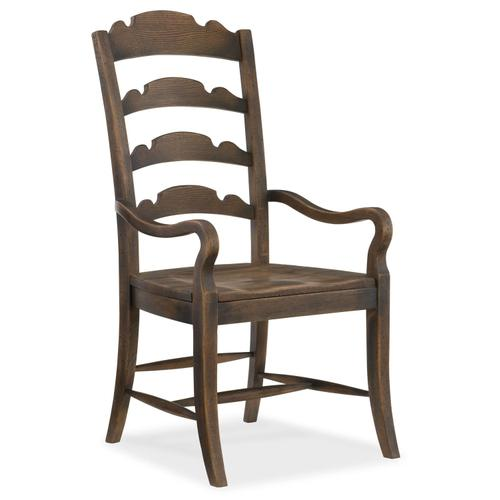 Dining Room Hill Country Twin Sisters Ladderback Arm Chair - 2 per carton/price ea