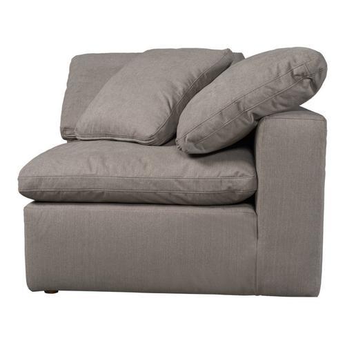 Moe's Home Collection - Terra Condo Corner Chair Livesmart Fabric Light Grey