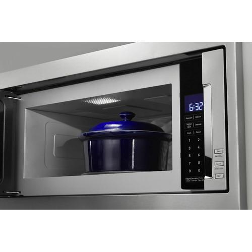 Gallery - 1000 Watt Built-In Low Profile Microwave with Slim Trim Kit - Stainless Steel