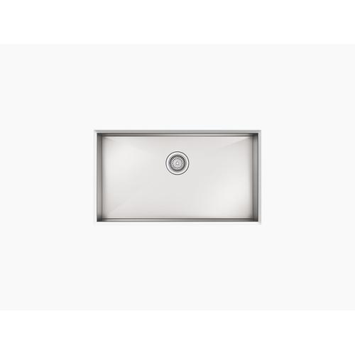 """32"""" X 18-5/16"""" X 5-7/9"""" Undermount Large Single-bowl Kitchen Sink With No Faucet Holes"""