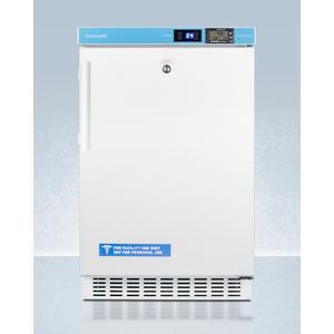 """SummitPharmacy Series ADA Compliant 20"""" Wide Built-in Undercounter All-refrigerator for Vaccine Storage, Frost-free With an Internal Fan, External Digital Controls and Thermometer, Self-closing Door, and Lock"""