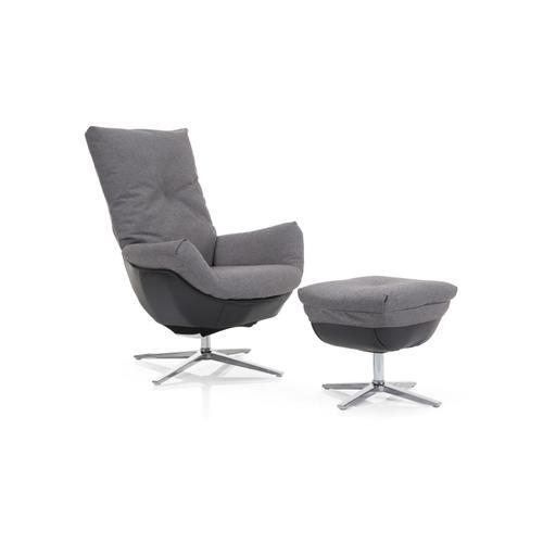 Decor-rest - Grey Chair with Ottoman