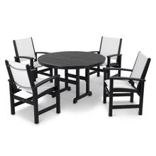 Black & White Coastal 5-Piece Dining Set