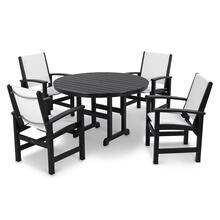 Black & White Coastal 5-Piece Dining Set