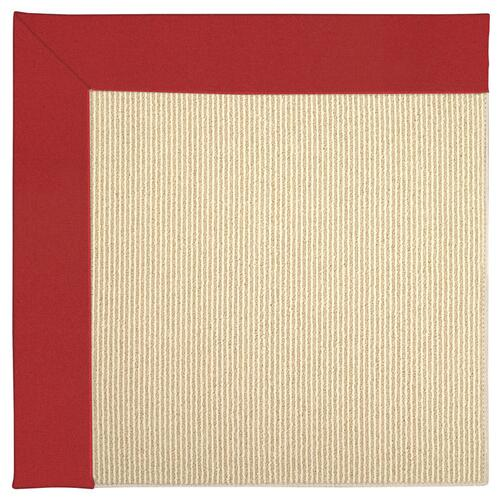 Creative Concepts-Beach Sisal Canvas Jockey Red Machine Tufted Rugs
