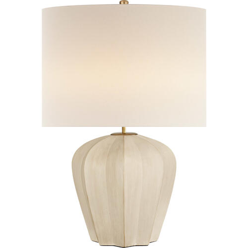 AERIN Pierrepont 30 inch 75 watt Stone White Table Lamp Portable Light, Medium