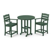 View Product - Lakeside 3-Piece Round Counter Arm Chair Set in Green