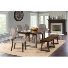 Product Image - Emerson 6pc Rectangle Dining Set With 1 Bench and 4 Chairs - Gray Sheesham