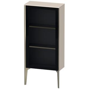 Semi-tall Cabinet With Mirror Door Floorstanding, Taupe Matte (decor)