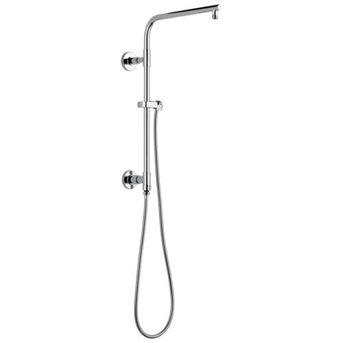 "Black Stainless Shower Column 18"" Round"