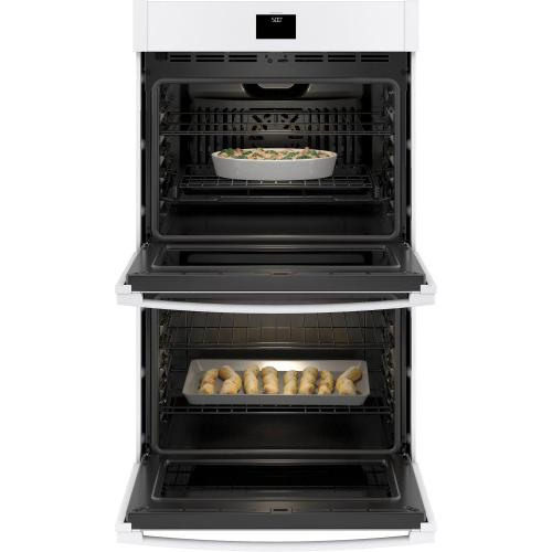 "GE® 30"" Smart Built-In Self-Clean Convection Double Wall Oven with Never Scrub Racks"