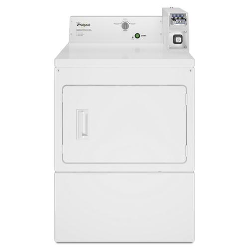 Whirlpool - Commercial Electric Super-Capacity Dryer, Coin-Slide and Coin-Box White