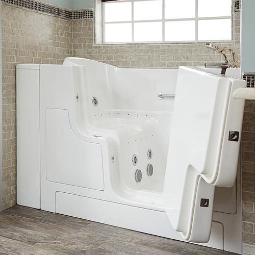 American Standard - Gelcoat Premium Series 32x52 Outward Opening Door Combo Massage Walk-in Tub, Right Drain  American Standard - White